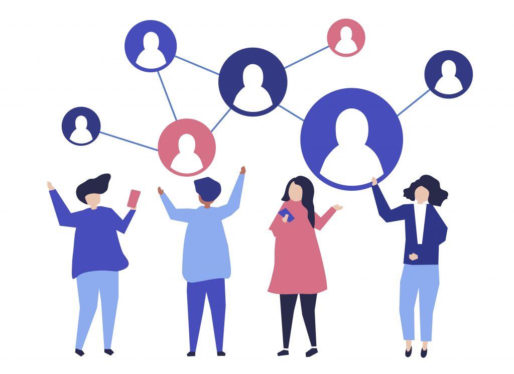Imagem decorativa sobre comunicação entre pessoas por meio de SharePoint